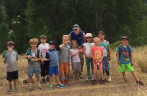 EVLT Stewardship Manager, Jessica Foulis, at Miller Ranch Open Space with Walking Mountains students