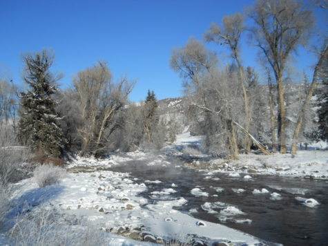 The Eagle River winding its way through the preserve.